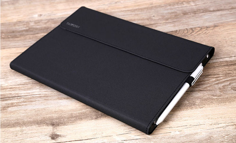 Black Leather Surface 3 Pro 3 4 5 6 Leather Cover Case With Pen Cap SPC06_14