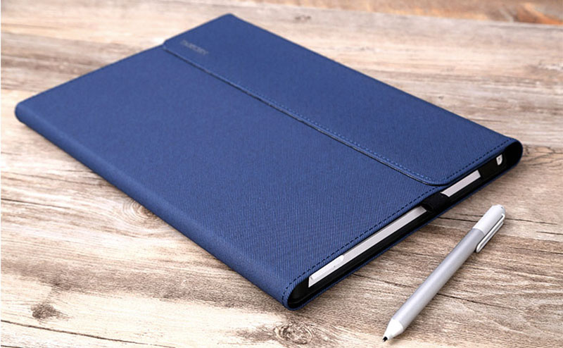 Black Leather Surface 3 Pro 3 4 5 6 Leather Cover Case With Pen Cap SPC06_18
