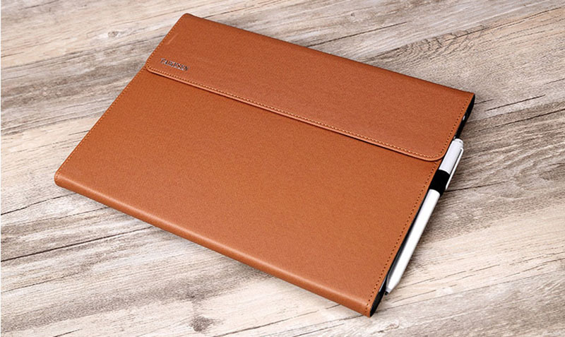 Black Leather Surface 3 Pro 3 4 5 6 Leather Cover Case With Pen Cap SPC06_22