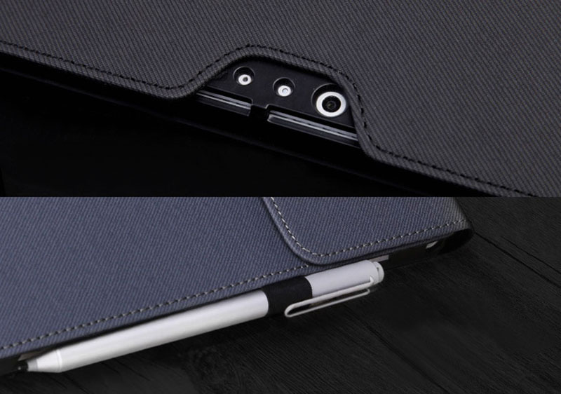 Black Leather Surface 3 Pro 3 4 5 6 Leather Cover Case With Pen Cap SPC06_9