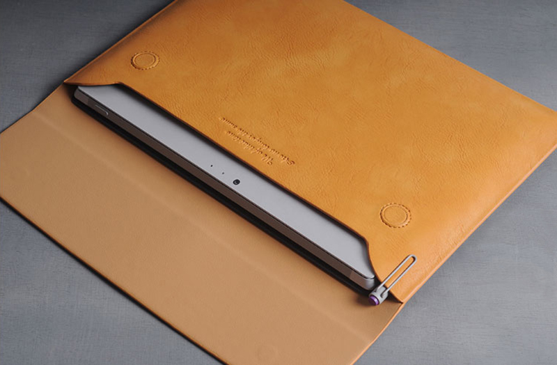 Brown Leather Surface Pro 6 5 4 3 Book Leather Bags Cover SPC07_10
