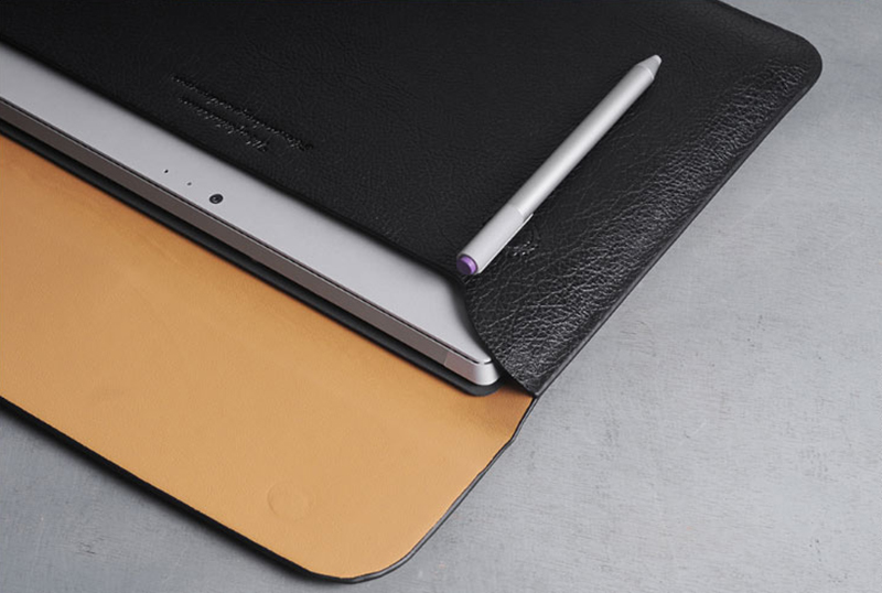 Brown Leather Surface Pro 6 5 4 3 Book Leather Bags Cover SPC07_11