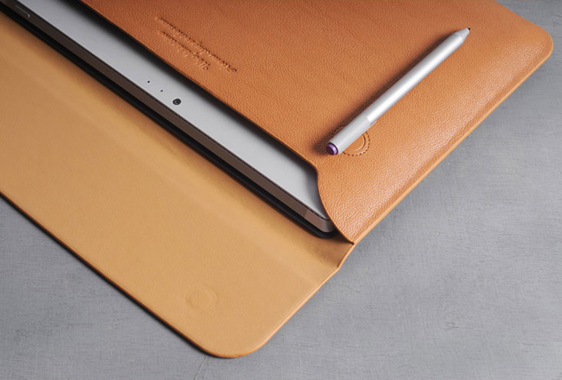 Brown Leather Surface Pro 6 5 4 3 Book Leather Bags Cover SPC07_23