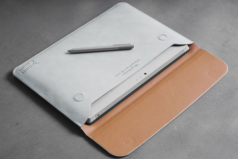 Brown Leather Surface Pro 6 5 4 3 Book Leather Bags Cover SPC07_25