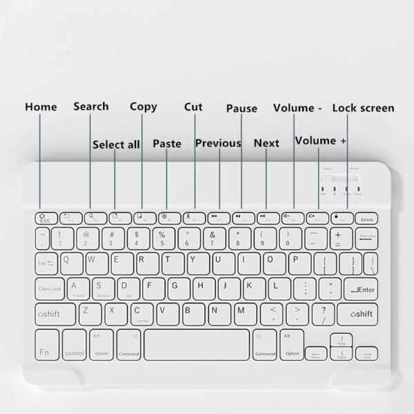 Bluetooth Keyboard With Case For iPad Air 1 2 2017 New iPad Pro 9.7 Inch IP503_7