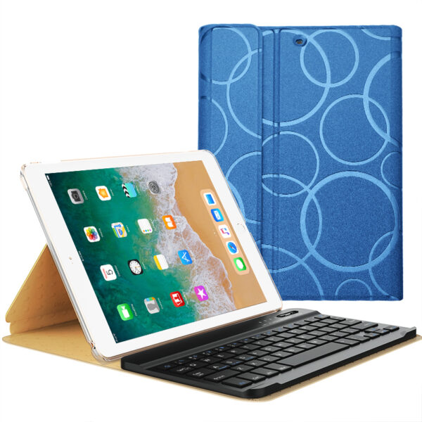 Smart Protective iPad Air 1 2 2017 New iPad Keyboard Cover IP505_4