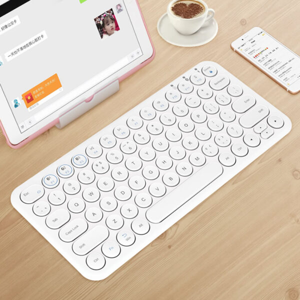 Retro Round Keycap Keyboard For Tablet Phone PC IPK01_2