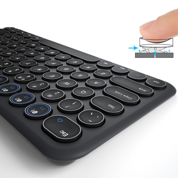 Retro Round Keycap Keyboard For Tablet Phone PC IPK01_5