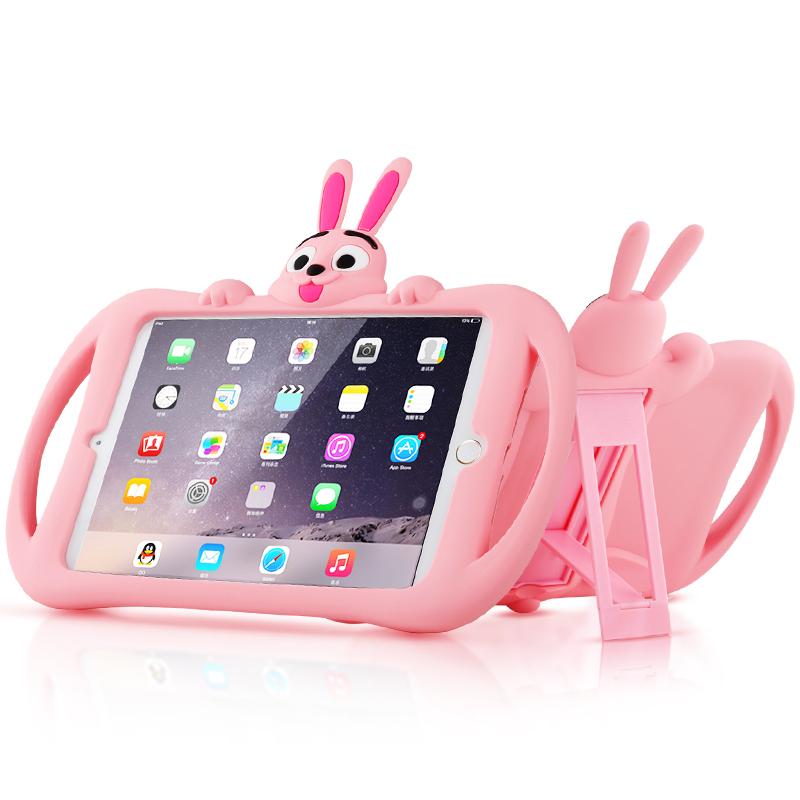 Protective Silicone iPad Air iPad 7 iPad Mini 4 3 Case For Children Kid IPC05