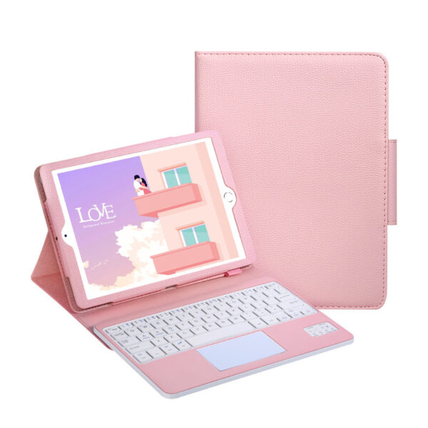Protective Leather Cover With Keyboard For iPad Pro Air New iPad With Touchpad IPK03
