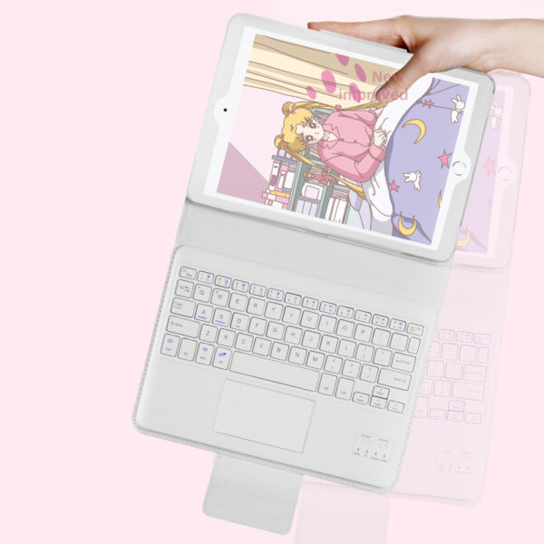 Protective Leather Cover With Keyboard For iPad Pro Air New iPad With Touchpad IPK03_4
