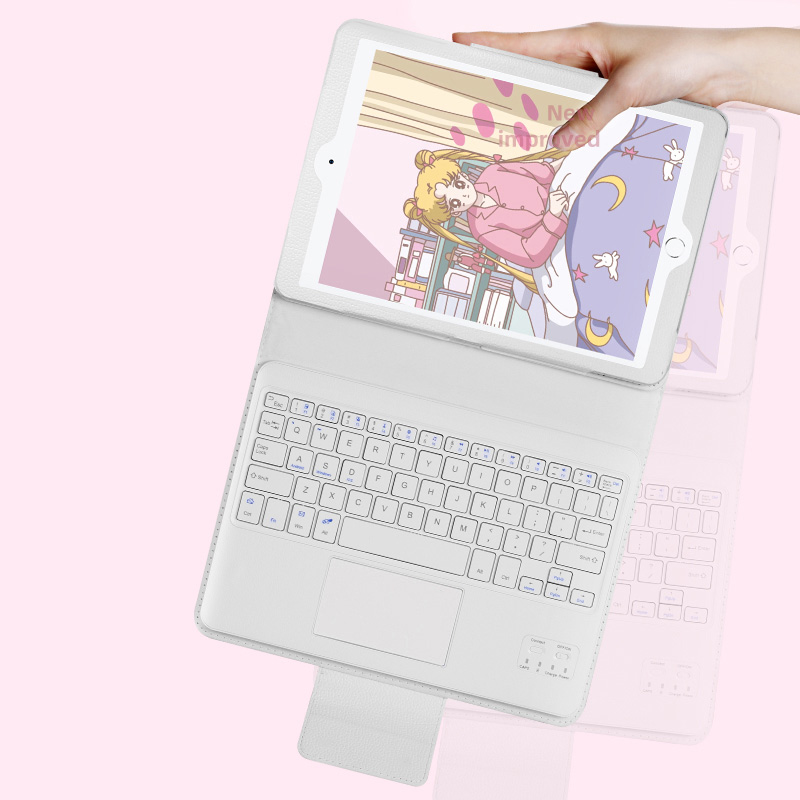 Protective Leather Cover With Keyboard For iPad Pro Air 3 With Touchpad IPK03_4