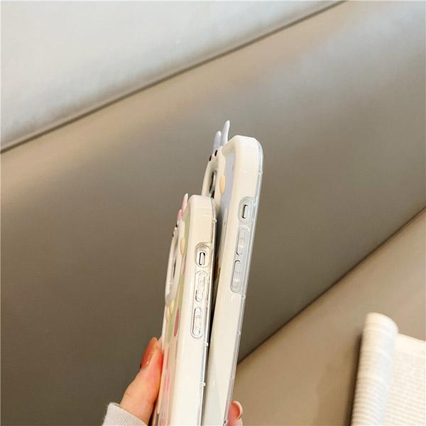 Cartoon Bear Bunny Pattern iPhone 11 XS 7 8 SE2 Plus Case IPS502_7