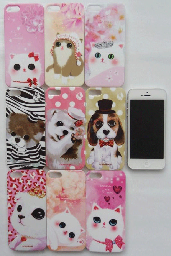 cute dog and cat iphone 5s se cases ips505 cheap cell phone case