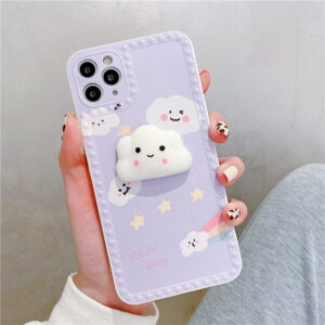 Cute Cartoon Painted iPhone 7 8 X 11 12 Silicone Protective Case IPS504