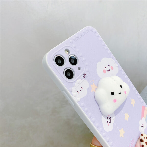 Cute Cartoon Painted iPhone 5S 6 7 8 X Silicone Protective Case IPS504_2