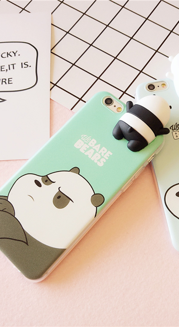 Cute Cartoon Painted iPhone 5S 6 7 8 X Silicone Protective Case IPS504_3