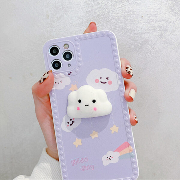 Cute Cartoon Painted iPhone 5S 6 7 8 X Silicone Protective Case IPS504_4