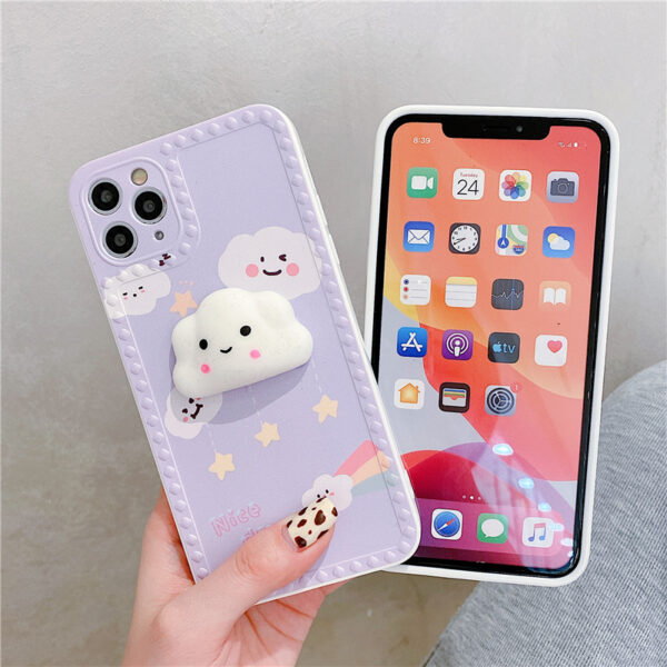 Cute Cartoon Painted iPhone 5S 6 7 8 X Silicone Protective Case IPS504_5