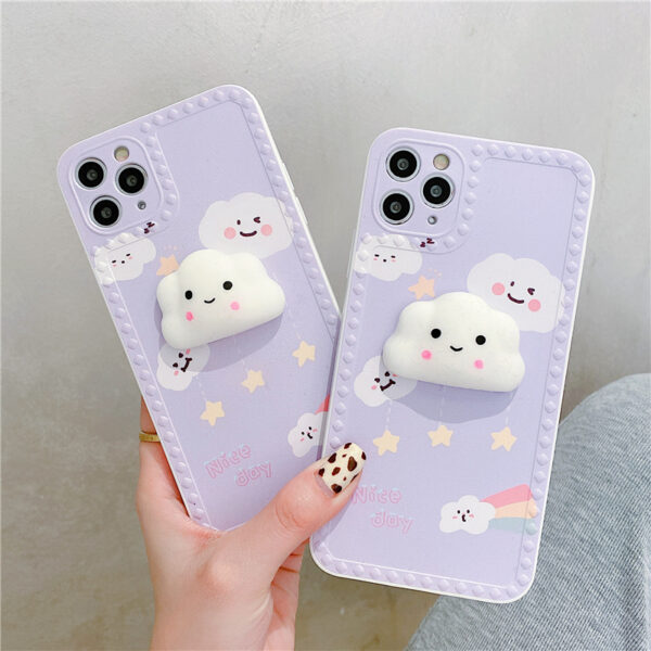 Cute Cartoon Painted iPhone 5S 6 7 8 X Silicone Protective Case IPS504_6