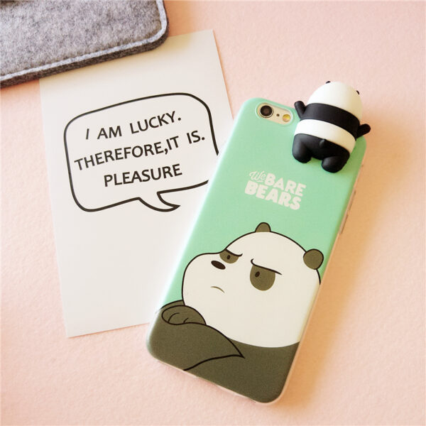 Cute Cartoon Painted iPhone 5S 6 7 8 X Silicone Protective Case IPS504_8