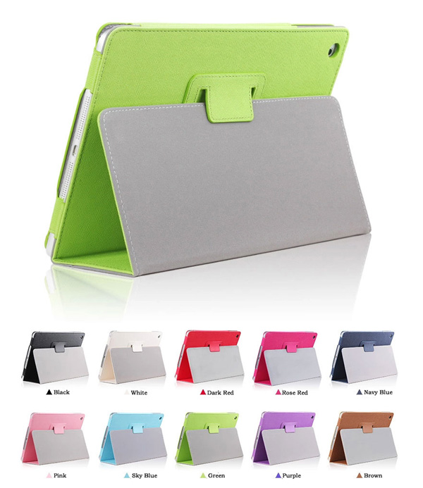 Cheap iPad Mini Air Pro Leather Cover Folding Folio Case IPMC06