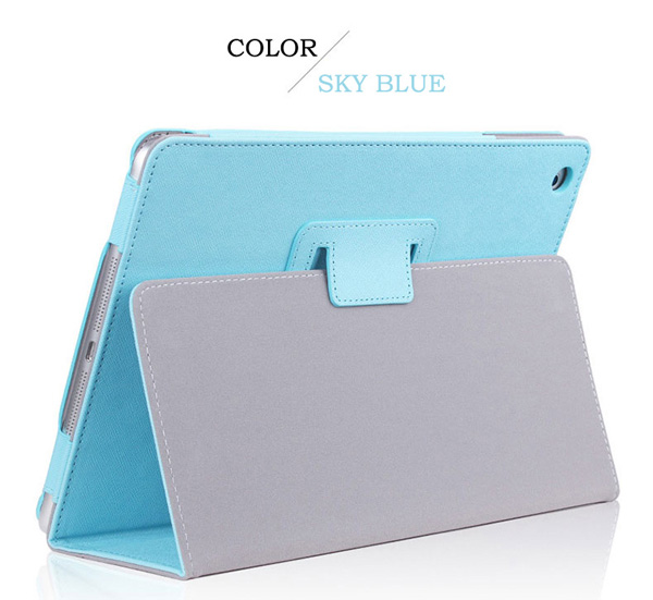 Cheap iPad Mini Air Pro Leather Cover Folding Folio Case IPMC06_2