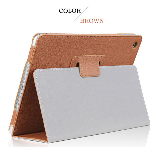 Cheap iPad Mini Air Pro Leather Cover Folding Folio Case IPMC06_3