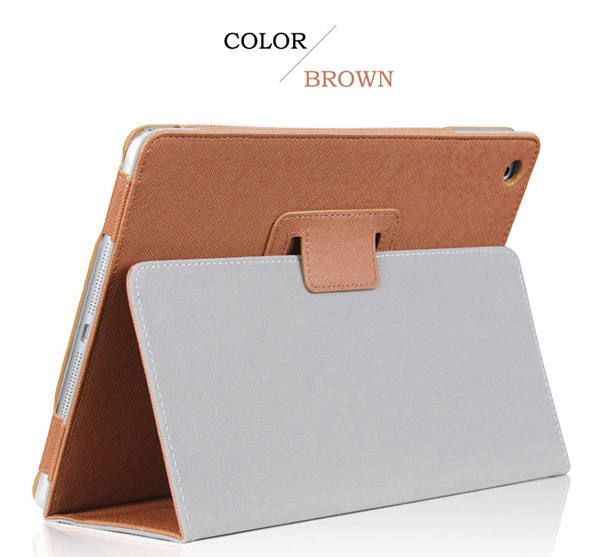 Cheap iPad Mini Air Pro Leather Cover Folding Folio Case IPMC06_3