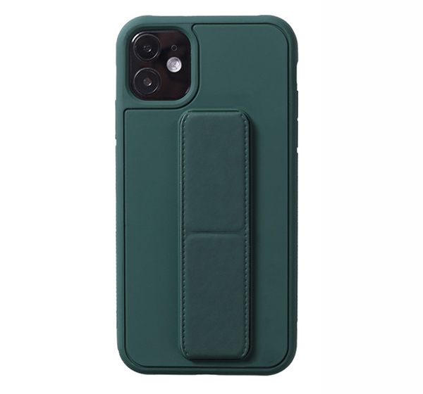 Leather iPhone 11 Pro Max XS XR Case With Folding Bracket IPS605
