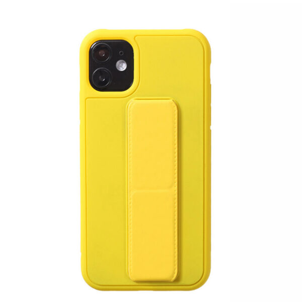 Leather iPhone 11 Pro Max XS XR Case With Folding Bracket IPS605_2