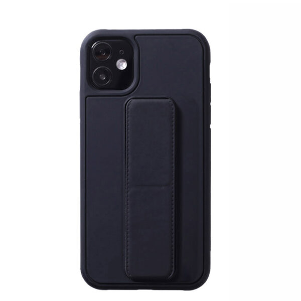 Leather iPhone 11 Pro Max XS XR Case With Folding Bracket IPS605_4