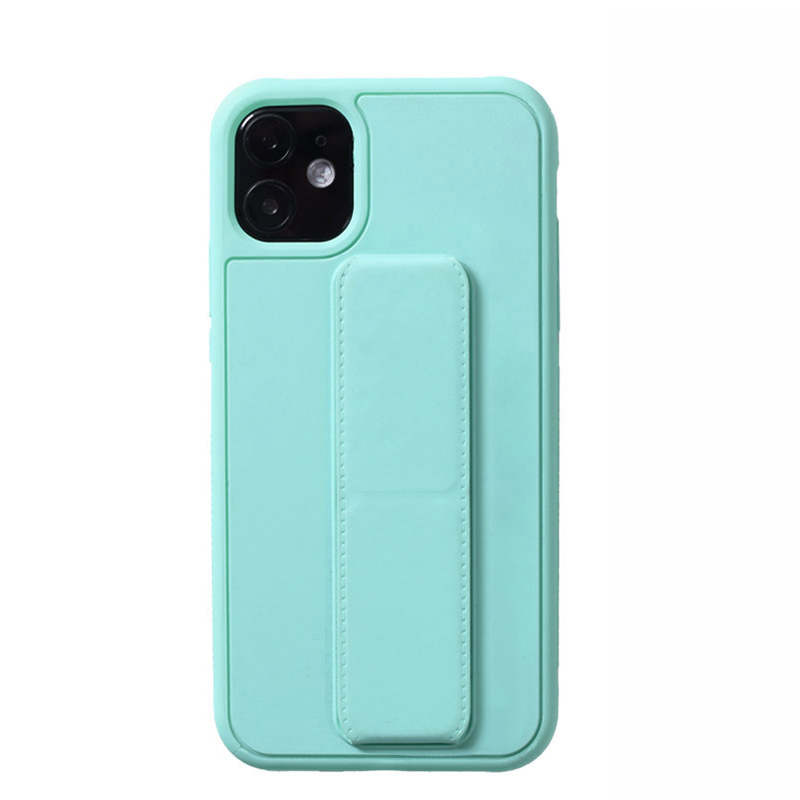 Leather iPhone 11 Pro Max XS XR Case With Folding Bracket IPS605_17