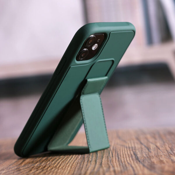 Leather iPhone 11 Pro Max XS XR Case With Folding Bracket IPS605_7