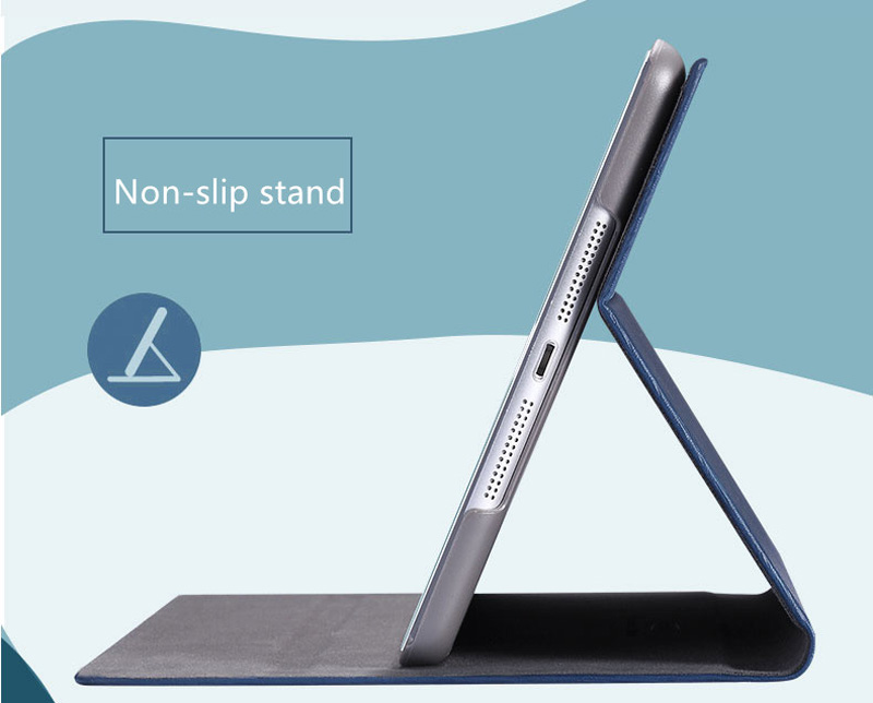 Best Apple Dark Blue Leather iPad 10.2 Inch Cover IPMC301_17