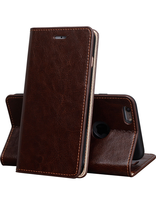 Cool Protective Leather iPhone 6 7 8 Plus Case With Card Slot IPS608