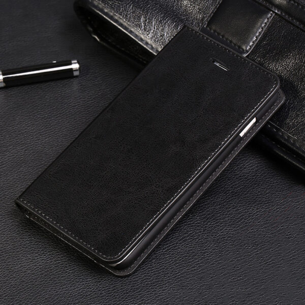 Cool Protective Leather iPhone 6 7 8 Plus Case With Card Slot IPS608_2