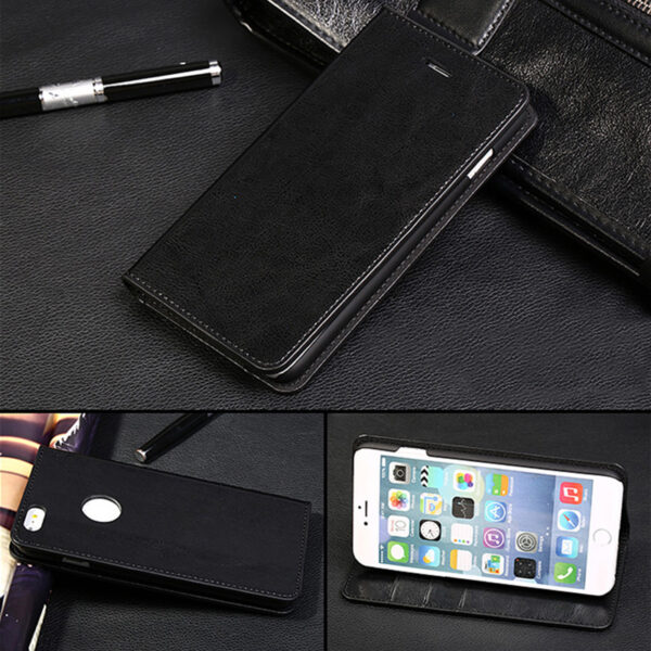 Cool Protective Leather iPhone 6 7 8 Plus Case With Card Slot IPS608_6