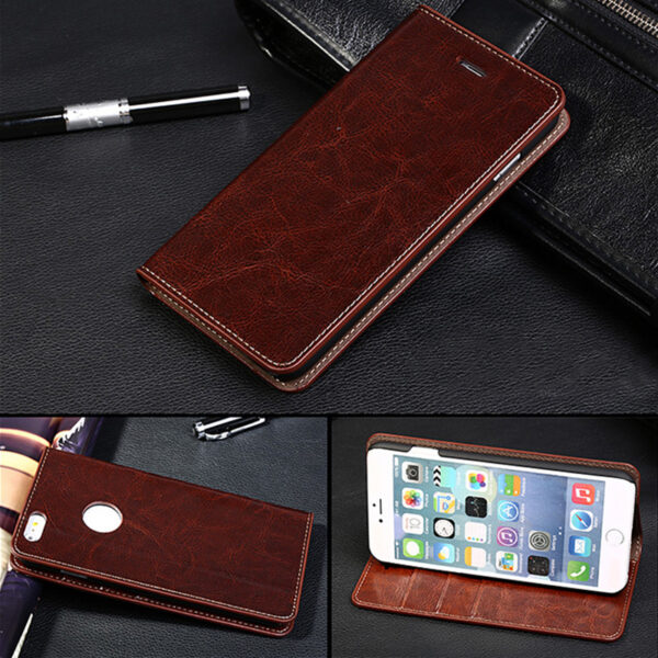 Cool Protective Leather iPhone 6 7 8 Plus Case With Card Slot IPS608_7