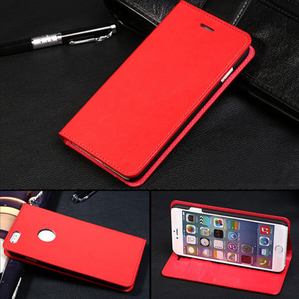 Cool Protective Leather iPhone 6 7 8 Plus Case With Card Slot IPS608_8