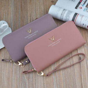 Leather Cell Phone Wallet For Samsung iPhone Smartphone Wallet PW02