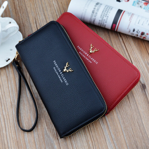 Leather Cell Phone Wallet For Samsung iPhone Smartphone Wallet PW02_2