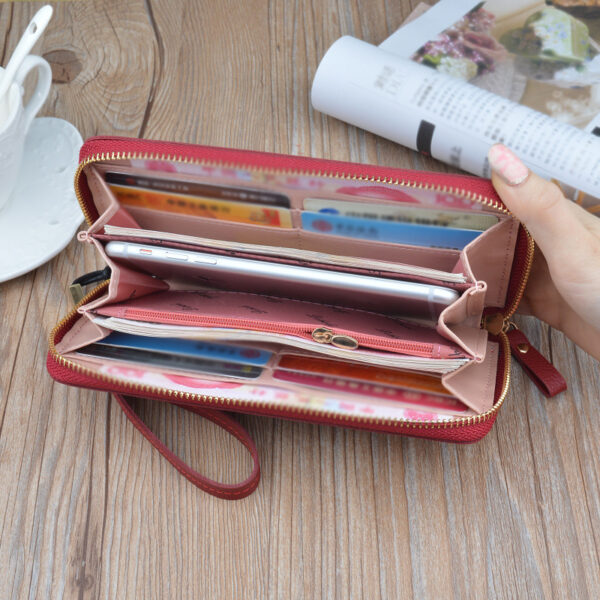 Leather Cell Phone Wallet For Samsung iPhone Smartphone Wallet PW02_5