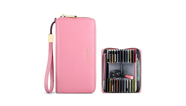 Smart Leather Cell Phone Wallets Credit Card Wallet For Women PW01_2