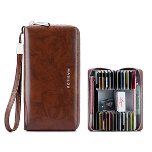 Smart Leather Cell Phone Wallets Credit Card Wallet For Women PW01_5