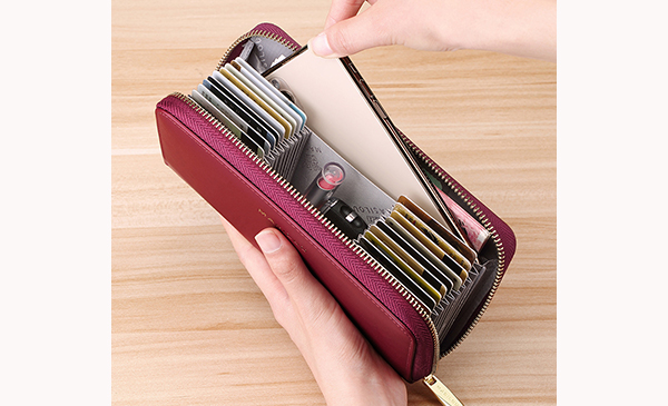 Smart Leather Cell Phone Wallets Credit Card Wallet For Women PW01_6