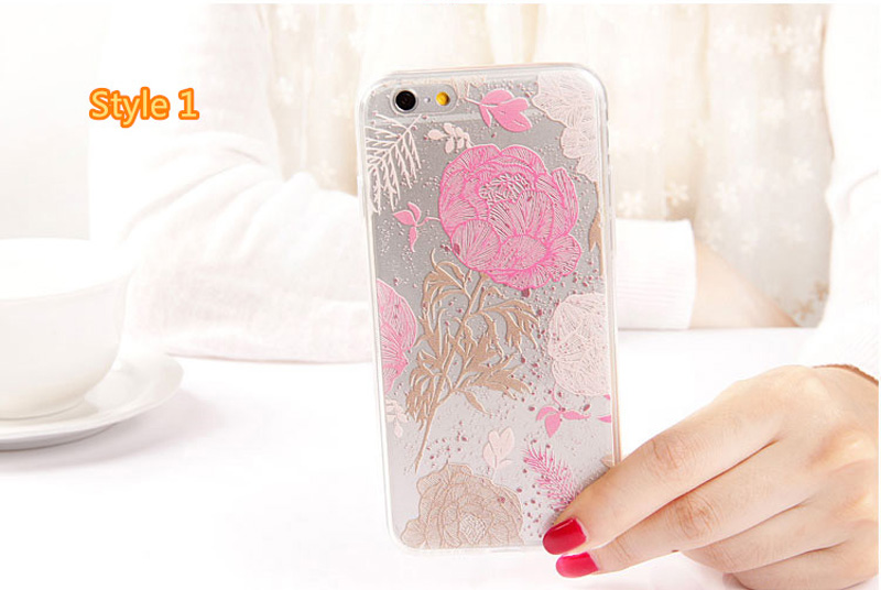 Best Cool Laser Painting Pattern Silicone Apple iPhone 6 And 6 Plus Cases IPS611