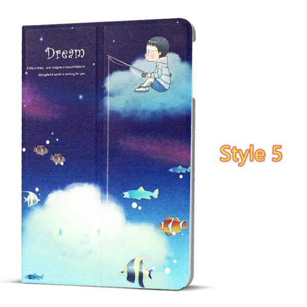 Best Leather iPad Air And iPad Air 2 Cover With HD Cartoon Drawing IPCC04_5