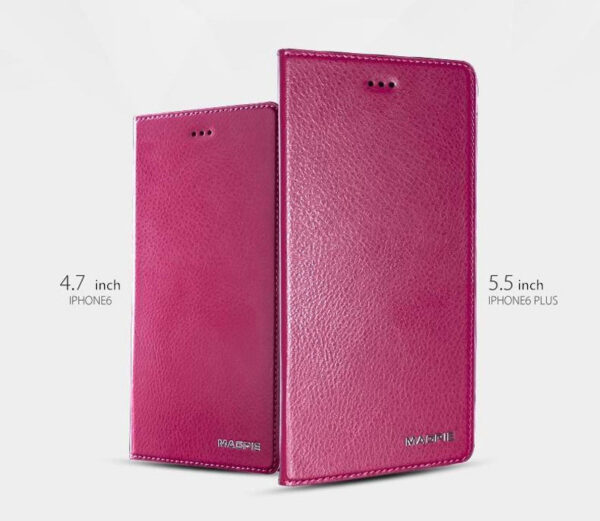 Best Leather iPhone 6 And Plus Cover With Card Slot Stand IPS610