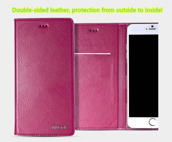 Best Leather iPhone 6 And Plus Cover With Card Slot Stand IPS610_2